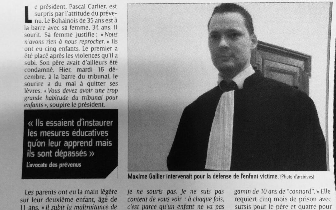 «Les parents condamnés après les violences sur leur fils» – Courrier Picard