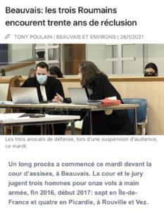 Affaire criminelle Assises BEAUVAIS: Me GALLIER en défense.